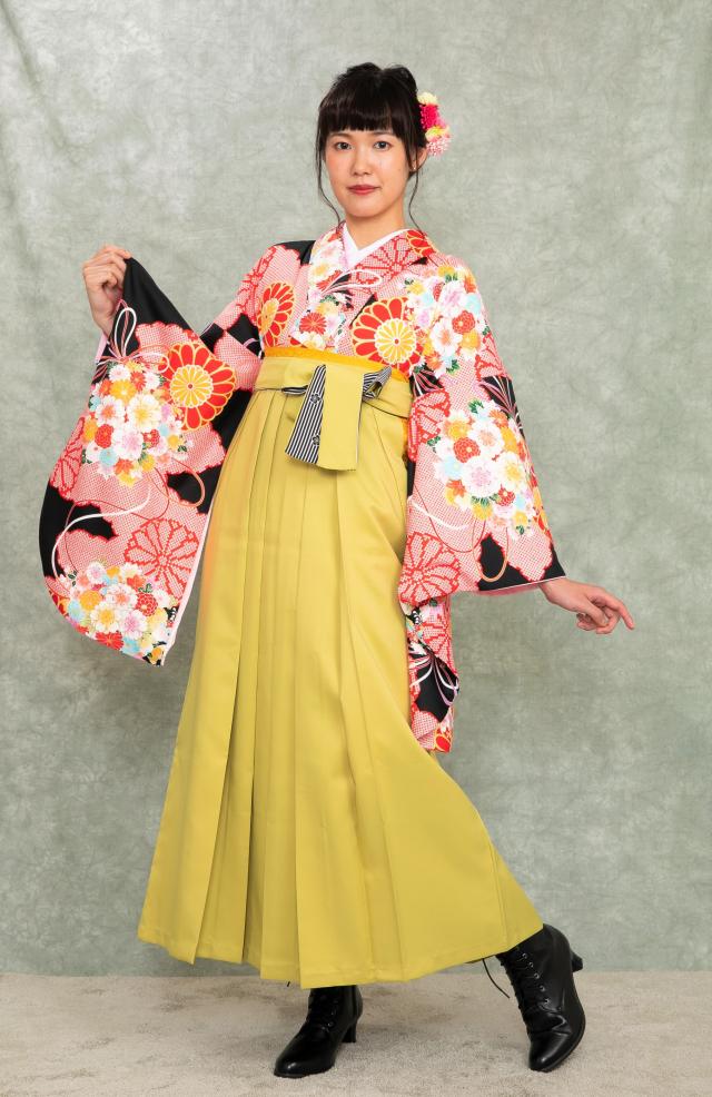 西宮出張着付け袴のレンタル 黒菊