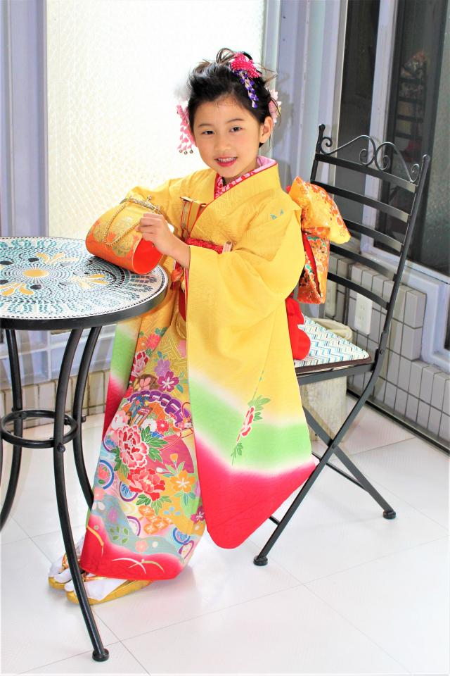 芦屋出張着付け 7歳女児振袖